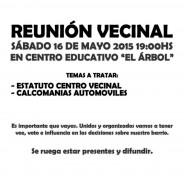 Convocatoria a Reunión Vecinal Nº10