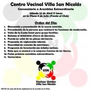 Asamblea Extraordinaria del Centro Vecinal